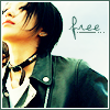 saekhwa: Asian woman with short black hair & arms outspread and text that reads: 'free' (Default)