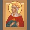 halialkers: Queen Tamar of Georgia, halo surrouniding her face. (Deborah)