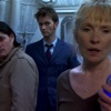 pedestrian: brooke, the doctor, and tarak facing the viewer, shocked (doctor who)