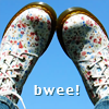 pensnest: my floral Doc Martens against the sky (Bwee)