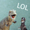 pensnest: dinosaurs laughing (LOL dinosaurs)