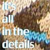 pensnest: knitted sweater close up, caption: it's all in the details (Knitting details)