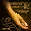 pensnest: languid hand in golds and browns (Hand caress)