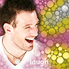 pensnest: JC laughing in a cloud of pink and yellow bubbles (JC laugh)