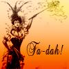 pensnest: Victorian woman with magic wand, caption Ta-dah! (Victorian Ta Dah!)