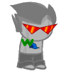 djiinraidinnae: Brobot from Homestuck with Magnetic W stuck to him. They are my OTP. (brobot x w)