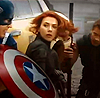 isagel: Captain America, Black Widow and Hawkeye, taking cover together and making battle plans. (avengers steve/natasha/clint)