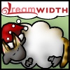 katherine: Cat-eared Dreamsheep wearing a Santa hat (catdreamsheep-santa)