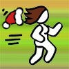 ell: running icon with christmas hat (runnermeholiday)
