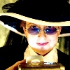 ladyvyola: me as a steampunk doctor - big victorian hat and sinister light from below (trust me I'm a doctor)