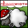 sporky_rat: dw sheep in santa hat dreaming of dw (winter)