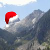 ilanarama: Mountain can has santa hat! (mountain santa)