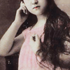 chatananas: vintage lady with long hair (PINK: long hair)