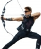 jenna_thorn: Hawkeye with bow drawn (Hawkeye)