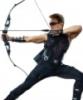 jenna_thorn: Hawkeye with bow drawn (Hawkeye)
