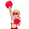 coolness: (why does a cleric have pompoms)
