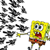 lasergirl: spongebob squarepants being attacked by a flock of birds (thrushbob scaredypants)