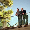 lilyleia78: House and Wilson standing on a balcony (House: Honeymoon view)