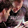 lilyleia78: John and Rodney, Rodney's holding something small. Captioned Say Yes (SGA: Proposal)