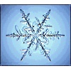 ilyena_sylph: snowflake on blue background. no, not a special one. (Art: snowflake)