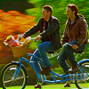 yourlibrarian: Sam and Dean on a Tandem Bike (SPN-TandemBike-moodymuse19)