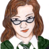 gina_r_snape: me as drawn by pennswoods (Me at Hogwarts)