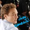 "roga: josh lyman looking over his shoulder with a ""chag sameach!"" caption (happy holiday)"
