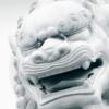 aloadae: (art: lion statue outside jingan temple)