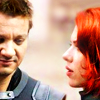 dirty_diana: Hawkeye and Black Widow in Avengers film (clintasha)