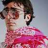 girlanachronism: John Oliver in a pink scarf with aviators (John Oliver - Scarf)