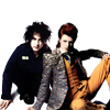 girlanachronism: robert smith and david bowie (Rock Gods)