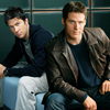 scrollgirl: john and cam in civvies, sitting down (sg-1 sga john/cam civvies)