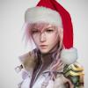 opportunemoment: Lightning from FFXIII, wearing a santa hat (lightning hat)