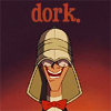 "damkianna: A cap of Milo from Disney's Atlantis, with accompanying text: ""Dork."" (Dork.)"