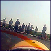 hagar_972: A group of people, backlist, over the prop of an rc plane (Planes (people))