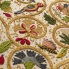 laughingrat: A richly-embroidered panel from a reproduction 17th-century jacket..  Motifs are plants, birds, and insects. (Making)