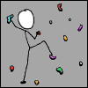 rydra_wong: stick figure on an indoor climbing wall -- base image taken from the webcomic xkcd (climbing -- xkcd)