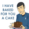 turntap: ([star trek] Spock baked a cake for you.)