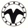 lannamichaels: The Watcher symbol from highlander: either a stylized V or an upside down W, surrounded by a ring of dots. (watcher)