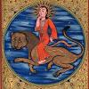 featherynscale: woman riding a lion (Leo)
