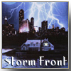 "highlander_ii: book cover art for ""Storm Front"" with book title text at bottom ([Dresden] Storm Front)"