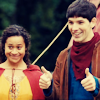 Luka: merlin - gwen&merlin - thumbs up!