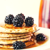 kerrypolka: Pancakes with blackberries (food: pancakes)