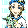 jitusk: Smiling child Johnny Joestar with his stand Tusk, from Steel Ball Run. (Smile)