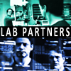"""dapatty: An icon of Tony Stark and Bruce Banner with the text """"Lab Partners"""" on it. (avengers lab partners)"""