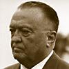 halialkers: J. Edgar Hoover, right profile view. Receding hair line, short nose, beady eyes (Agati)