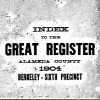 genealogy: Cover of the Register for Alameda County 1904 (Register) (Default)