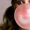 tree: drew barrymore blowing a pink bubble ([else] soap and water)