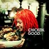 tree: leeloo from 'the fifth element'; text: chicken. good. ([film] chikun. good.)