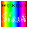 weekendslashmod: Rainbow-coloured weekend slash fest icon. (Default)
